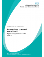 Guia NICE: Antenatal and postnatal mental health (2007)