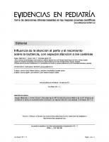 Evid Pediatr. 2011; 7:2: Influencia de la atención al parto y al nacimiento sobre la lactancia, con especial atención a las cesáreas