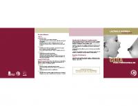Junta de Castilla y León. Guía para profesionales de lactancia materna