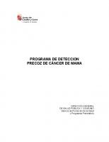 Junta de Castilla y León. Programa de detección precoz de cancer de mama