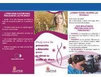 Junta de Castilla y León. Programa de prevención y detección precoz de cáncer de cuello de útero
