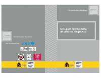 Ministerio de Sanidad y Consumo. Guía para la prevención de defectos congénitos. 2006