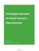 Ministerio de Sanidad y Política Social. Estrategia Nacional de Salud Sexual y reproductiva. 2010