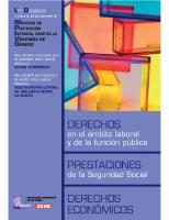 Secretaría confederal de la Mujer de C.C.O.O. Derechos en el ámbtio laboral y de la función pública. Prestaciones de la Seguridad Social. Derechos económicos. 2006