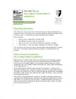 Información sobre los movimientos del bebe durante el embarazo. RCOG