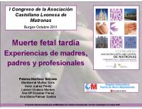Muerte fetal tardía, Experiencias de madres, padres y profesores, Paloma Martínez Serrano