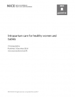 Intrapartum care for healthy women and babies. Last updated: February 2017.