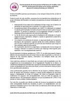 Posicionamiento de la Asociación de Matronas de Castilla y León ante las restricciones de visitas en los centros sanitarios durante el estado de alarma por COVID‐19